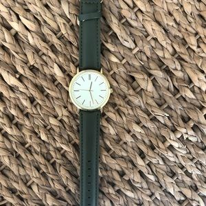 Women's Watch Hunter Green W/ Gold Accents